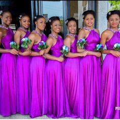 The Nigerian wedding page is dedicated to the style & class obsessed bride out there, offering fun &. Bright Purple Bridesmaid Dresses, Bridesmaid Dresses 2017, Wedding Bridesmaids, Lilac Wedding, Dream Wedding Dresses, Wedding Colors, Wedding Ideas, Wedding Planning, African Traditional Wedding Dress