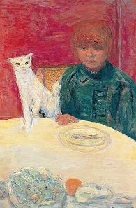 Woman with cat by Pierre Bonnard.