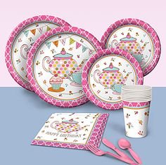Make planning your tea party simple with our Tea Time Basic Party Pack. You will receive adorable tea party themed place settings for eight guests.