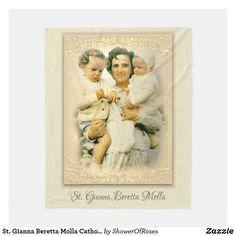 St. Gianna Beretta Molla Catholic Mother Fleece Blanket Catholic Prayers, Catholic Saints, Roman Catholic, Medical Careers, Crisp Image, Prayer Cards, Decoration, Backdrops, Photos
