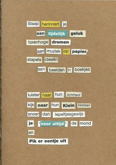 How-to cut up poem