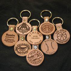 Custom Engraved Key Fobs - Quantity 30. $50.00, via Etsy.