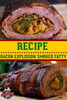 Pay attention, watch closely, and try to manage your drool as we walk through this step-by-step bacon explosion smoked fatty video recipe. Traeger Recipes, Smoked Meat Recipes, Smoked Bacon, Rib Recipes, Grilling Recipes, Grilling Tips, Sausage Recipes, Easy Recipes, Amigurumi