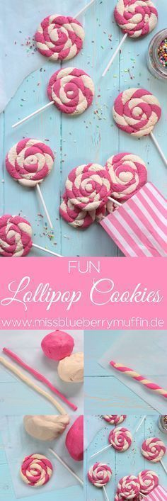 Lollipop Cookies // Backen mit Kindern ♥ - Food - - Lollipop Cookies // baking with kids ♥ Lollipop Cookies // Backen mit Kindern ♥ Lollipop Cookies, Cake Cookies, Baking Cookies, Lollipop Lollipop, Cake Pops, Baking Recipes, Cookie Recipes, Baking Ideas, Cupcake Recipes