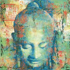 Buy Pop Art Canvas Buddha Blue Green and Red Buddha Oil On Canvas Painting | We Heart It | Buddha and art
