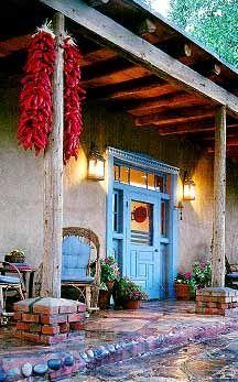 New Mexico Hacienda Entrance