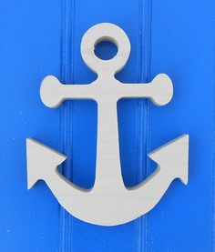 "16"" Nautical Shapes Unpainted Wooden Wall Hanging Room Decor Kids Crafts Anchor Ships Wheel Sailboat Whale, etc..."