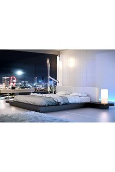 HauteLook | Modloft Furniture: Worth Wenge/White Nightstand & Bed Set