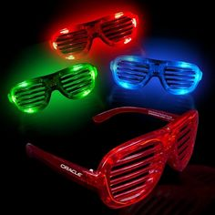 Promotional Light-Up LED Slotted Glasses Item #BRP-LIT27 (Min Qty: 192). Customize your Promotional Sunglasses with your company logo and with no setup fees.