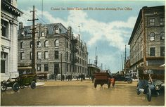 1st Street and 8th Avenue East Calgary historic-1910