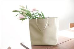 New in for spring: The Impatient bag from James Castle in neutral.