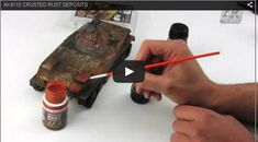 Tips on giving your plastic model a rust look using the effect from AKI…
