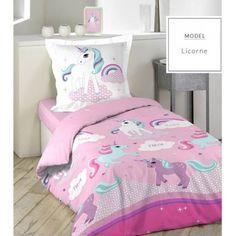 Ružové posteľné obliečky z bavlny s jednorožcom 140 x 200 cm - domtextilu. Kids Collection, Baby Unicorn, Interiores Design, Girl Room, Room Inspiration, Bedding Sets, Comforters, Toddler Bed, Colours