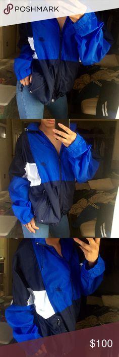 d2e2f3a5be Blue hooded nike windbreaker Women s large fits like medium. No trades.  True vintage item