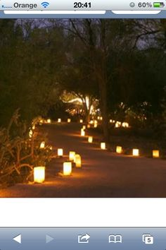 Candle lit pathway