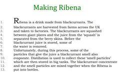 Distillation - making Ribena