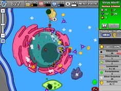 interactive and educational game to learn about cells