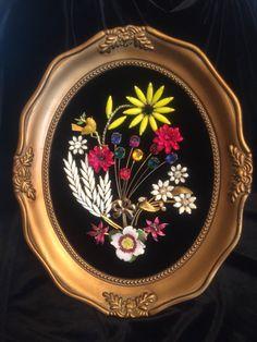 Framed Vintage Jewelry Art Enamel Floral by KajaVintageCreations Costume Jewelry Crafts, Vintage Jewelry Crafts, Jewelry Party, Vintage Jewellery, Jewelry Frames, Jewelry Tree, Flower Jewelry, Jewelry Christmas Tree, Walmart Jewelry