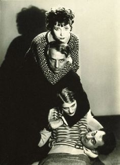 Tower of Surrealist Heads: Man Ray, Lee Miller, Max Ernst, Marie-Berthe