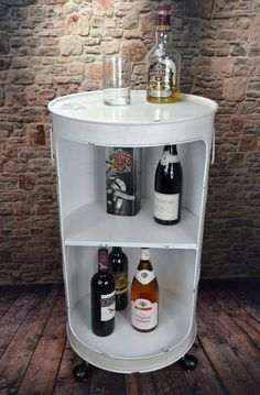 Minibar Hausbar Regaltonne Ölfass H80 cm Industrie Look Loft Vintage LV5025
