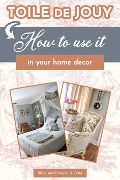 Do you want to learn more about how to use Toile de Jouy the right way? If so, check out this article and find out how to decorate a French country home with Toile de Jouy fabric.