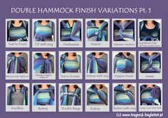 Double Hammock Finish Variations Pt. 1  Please quote if you share the Picture: http://www.tragend-begleitet.at  http://facebook.com/tragendbegleitet