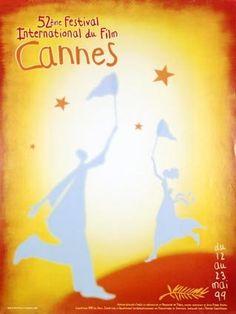 La 52ème édition du Festival de Cannes, en 1999 Auteur de laffiche: Jean-Pierre Gendis. Palme dOr:Rosetta de Jean-Pierre Dardenne et Luc Dardenne