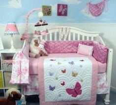 Soho Pink dancing butterflies Baby Crib Nursery Bedding Set 14 pcs included Diaper Bag with Changing Pad & Bottle Case SoHo Designs,http://www.amazon.com/dp/B00FGVOWYI/ref=cm_sw_r_pi_dp_pN.3sb1MWEEAVGQT