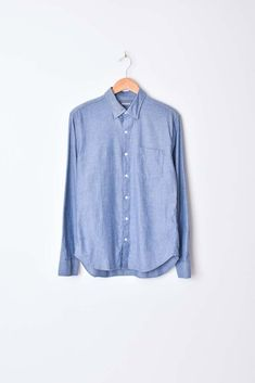 Brushed Button Down - Blue Heather c37e132324f6