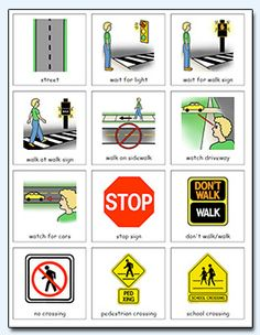 Educational Resources for Special Needs Traffic Rules For Kids, Safety Rules At School, Safety Rules For Kids, Road Safety Games, Road Safety Poster, Safety Posters, Teaching Safety, Safety Crafts, Safety Pictures