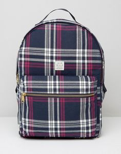 adfbdd0ceb62 Jack Wills Bromsgrove Backpack in Navy Check New School Bags