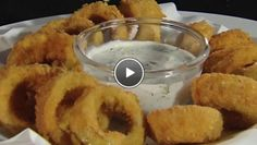Krokante uiringen met lente-uidip - The Taste of Life Basics   24Kitchen