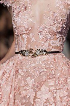 Detail at Zuhair Murad couture spring 2015 runway.