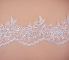 Bordado encaje de corte flores tela de encaje de tul por LaceNTrim