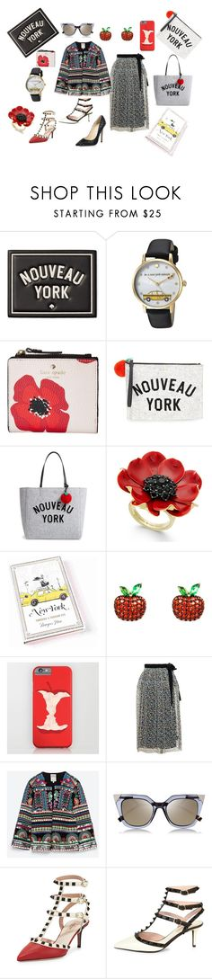 """""""Nouveau York"""" by rvqueen on Polyvore featuring Kate Spade, Latelita, Christopher Kane, Zara, Fendi, Valentino and Jimmy Choo"""