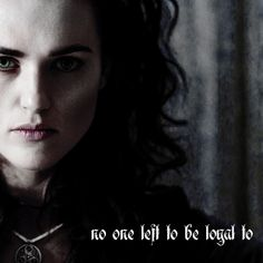 Morgana. It's interesting how you can see that she is constantly justifying her actions to herself. She honestly thinks she is fighting for a good cause: to free her people from tyranny. In Morgana's mind, she is like Katniss, standing up for what's right. Morgana is a fabulous example of anti-villain.