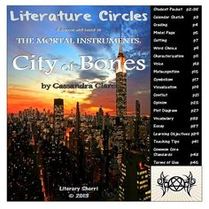 """Literature Circle Packet for """"The Mortal Instruments: City of Bones"""" by Cassandra Clare. This 5-week packet fosters close reading, critical thinking, and meaningful writing by pushing students to move beyond comprehension and delve deeply into understanding, applying, analyzing, and evaluating. """"City of Bones"""" is a high-interest, low-readability book that engages teens and keeps them reading!"""