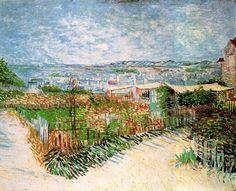 Vincent van Gogh. Vegetable Gardens at Montmartre   Flickr - Photo Sharing!