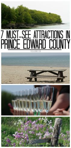 7 Must-See Attractions in Prince Edward County, Ontario – One of Canada's Top Tourist Destinations! Source by frugalmomeh Quebec, Prince Edward County Ontario, Places To Travel, Places To Visit, Canadian Travel, Canadian Rockies, Ontario Travel, Prince Edward Island, Destinations