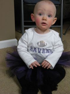Baltimore Ravens baby Girl outfit/ super bowl/ tutu purple and black/ onesie with Ravens embroidered and football rhinestone applique