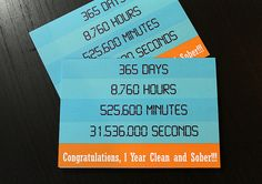 Counting day hours minutes and seconds by RecoveryCards on Etsy, $3.50