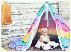 DIY fabric tent ;)