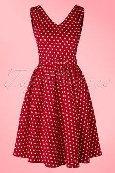 Dolly and Dotty Polkadot Dress in Red 102 27 15970 02172016 008W