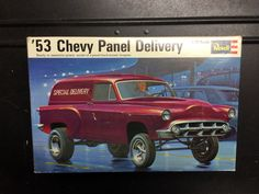 Model kit box art, '53 Chevy Delivery.