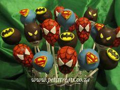 Superhero Character Cake Pops - Spiderman, Superman & Batman