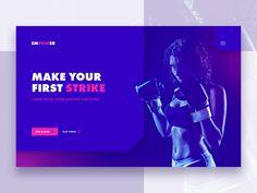 Landing Page - Female Fight Club by Mel Tan