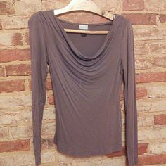 H&M top size small Light brown in color and cowl neckline. Had for a couple years but haven't worn much at all. Am happy to consider offers and/or bundle items; thanks for looking! H&M Tops