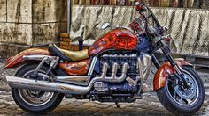 Needs a clean but the winter rebuild is finished. good blast out today the new pipe sounds ace Triumph Rocket, Triumph Motorcycles, Cars And Motorcycles, Motorcycle Wallpaper, Roadster, Triomphe, Bobber Chopper, Club Style, Biker Girl