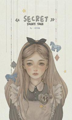Alice in wonderland Anime girl Cartoon Kunst, Anime Kunst, Cartoon Art, Art And Illustration, Fantasy Kunst, Fantasy Art, Anime Art Girl, Manga Art, Anime Girl Drawings