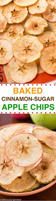 Baked Cinnamon-Sugar Apple Chips: easy to make and is the perfect snack!